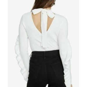 Rachel Roy Callum Turtleneck Sweater, White, S/M/L